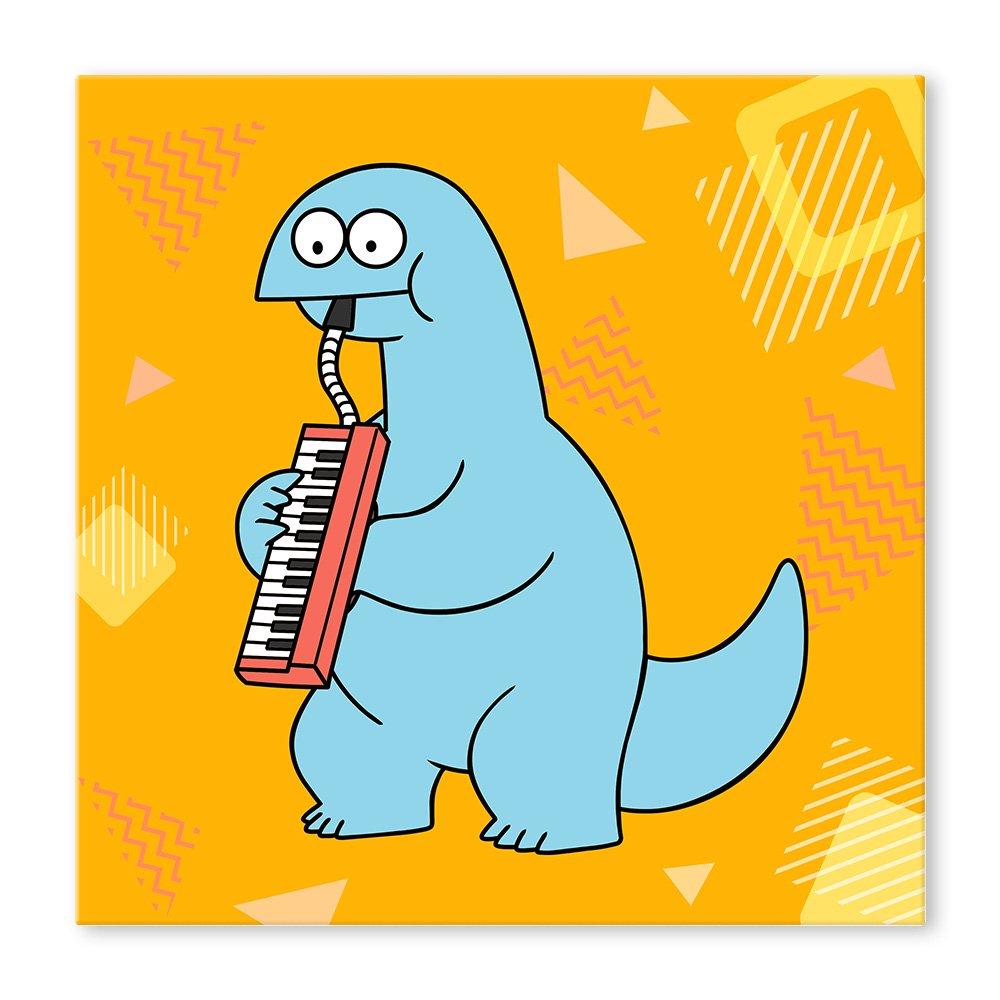 ギャルと恐竜 スクエアキャンバス B