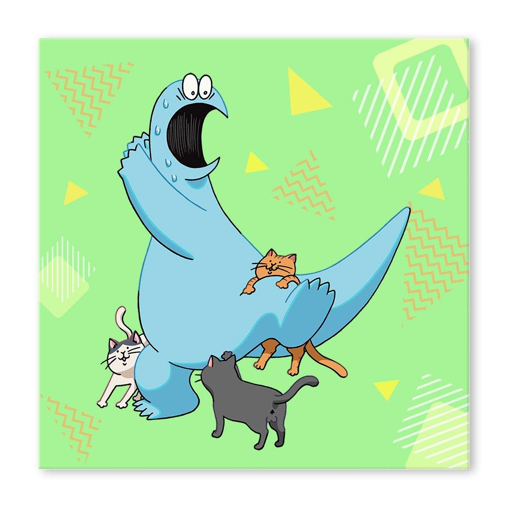 ギャルと恐竜 スクエアキャンバス E
