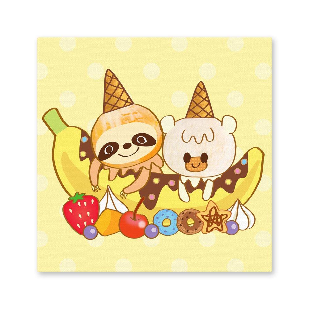 iiiあいすくりん スクエアキャラファインボード『バニラン&ママンゴ』