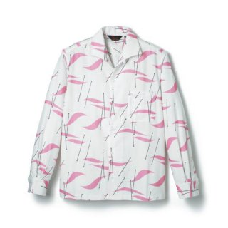 Atomic Print Flannel Shirt Pink