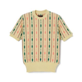 Chain SS Knit Yellow-Green-Pink