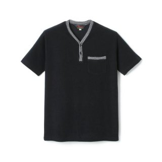 Pile Henry Neck Shirt  Black
