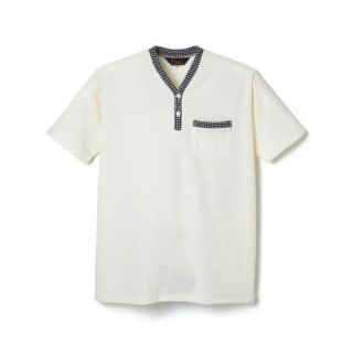 Pile Henry Neck Shirt  White