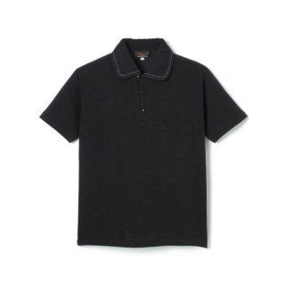 Rayon Jersey Polo Shirt  Black