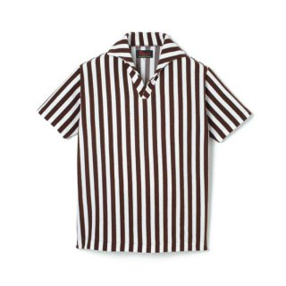 Stripe Pile Shirt  Brown
