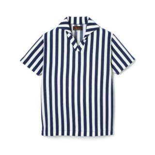 Stripe Pile Shirt  Navy