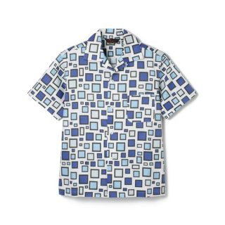 Block Print Shirt  Blue