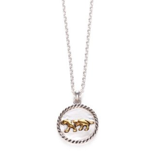 Panther Pendant  Brass×Silver/chain45cm