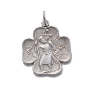 St.C Clover Necklace Silver