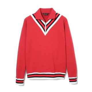 Zip Up Sweat  Red