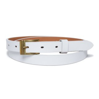 Steer hide Belt White