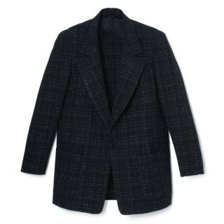 Peaked Lapel Jacket Nep-Fabric
