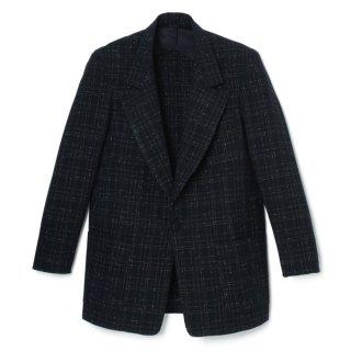 Peaked Lapel Jacket Nep-Fabric