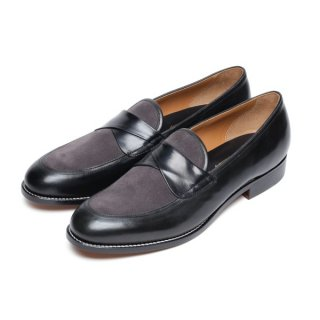 Cross Strap Shoes Black-Gray(buckskin on)