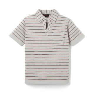 Border Knit Polo Gray