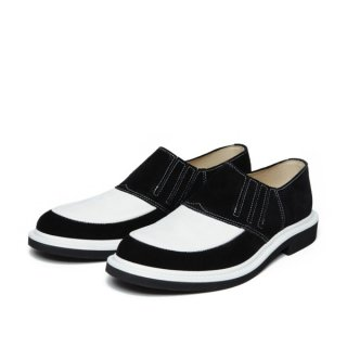 Rubber-Sole Shoes Black-White