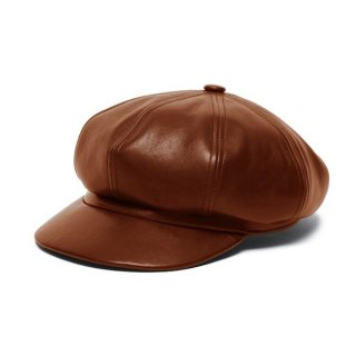 WEARMASTERS LEATHER CASQUETTE Brown