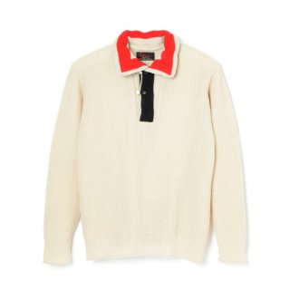Tri Tone Sweater White