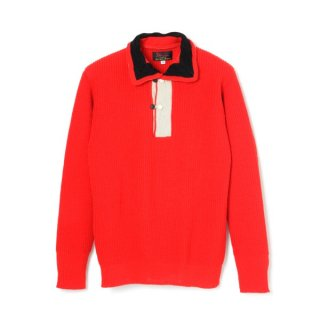 Tri Tone Sweater Red