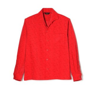 Fleck Cords Shirt Red