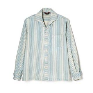 Stripe Cords Shirt Blue