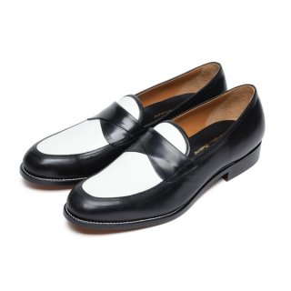 Cross Strap Shoes Black-White(buckskin on)