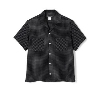 <img class='new_mark_img1' src='//img.shop-pro.jp/img/new/icons1.gif' style='border:none;display:inline;margin:0px;padding:0px;width:auto;' />WINDOWPANE ITALIAN COLLAR RAYON SHIRT Black