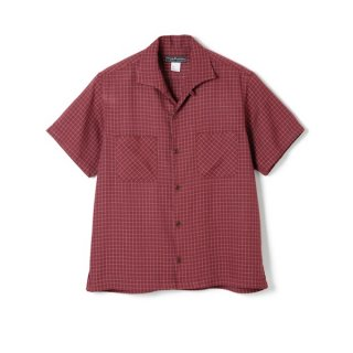 <img class='new_mark_img1' src='//img.shop-pro.jp/img/new/icons1.gif' style='border:none;display:inline;margin:0px;padding:0px;width:auto;' />WINDOWPANE ITALIAN COLLAR RAYON SHIRT Wine