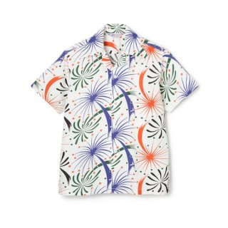"<img class='new_mark_img1' src='//img.shop-pro.jp/img/new/icons1.gif' style='border:none;display:inline;margin:0px;padding:0px;width:auto;' />""FIREWORKS"" S/S COTTON SHIRT WHT"