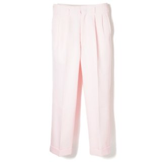 Side Pleats Pants Pink