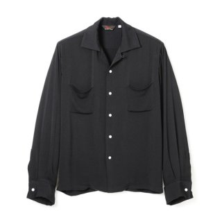 Rayon French Cuff Shirt Black