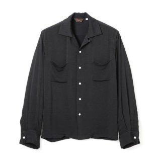 Rayon French Cuff Shirt Black