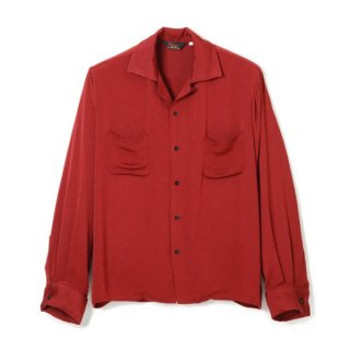 Rayon French Cuff Shirt Wine