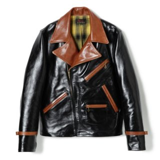 Bond Leather Sport Jacket Black-Brown
