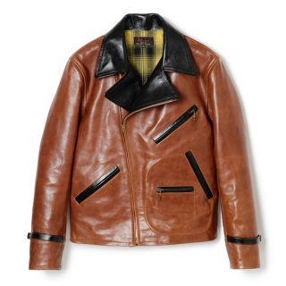 Bond Leather Sport Jacket Brown-Black