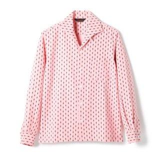 Diamond Cords Shirt  Pink-Black