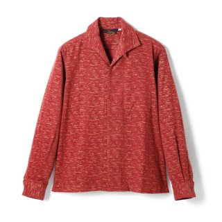 Fleck Cords Shirt Burgundy-Gold