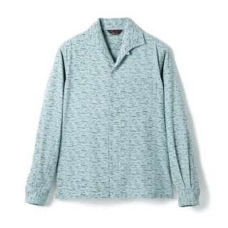 Fleck Cords Shirt Mint-Black