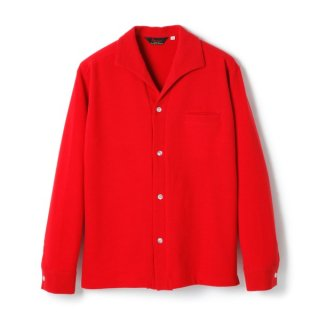 R&R Collar Waffle L/S Red