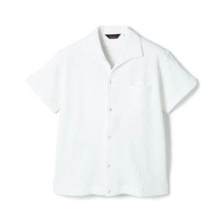 Italian Collar Waffle S/S White