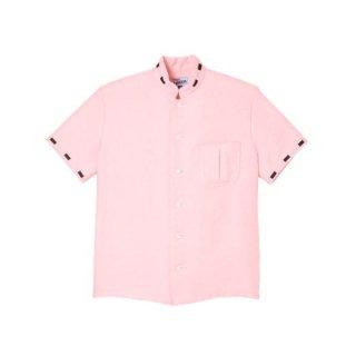 Mandarin Collar Shirt Pink
