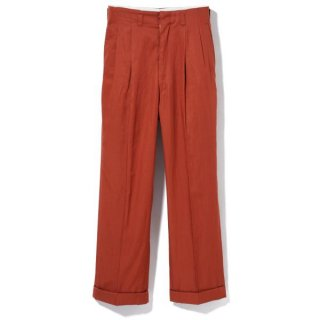 Side Pleats Pants Brick