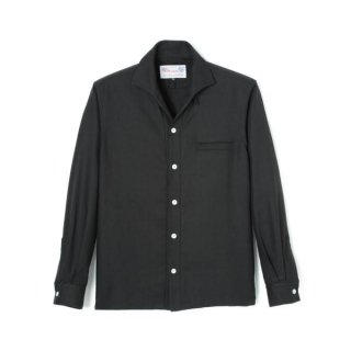 Rock'n Roll Collar Shirt Black