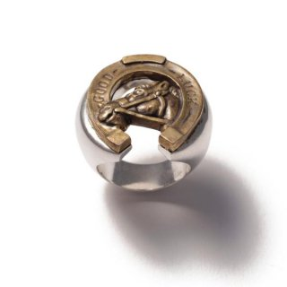 Horse Shoe Ring Silver×Brass