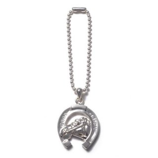 Horse Shoe Key Chain Silver