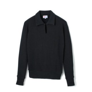 Long Sleeve Polo Black
