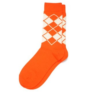 Argyle Sox  Orange