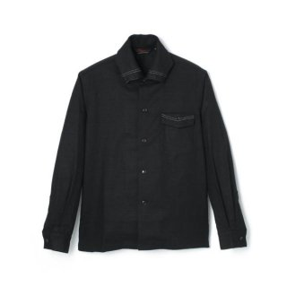 Roll Collar BD Shirt  Black