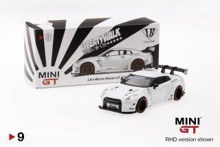 <img class='new_mark_img1' src='https://img.shop-pro.jp/img/new/icons1.gif' style='border:none;display:inline;margin:0px;padding:0px;width:auto;' />TSM MINI GT 1/64  LB★WORKS Nissan GT-R R35 GTウイング マットホワイト (右ハンドル)