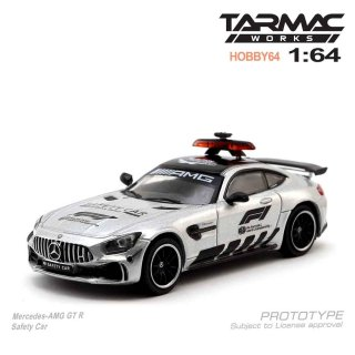 <img class='new_mark_img1' src='https://img.shop-pro.jp/img/new/icons29.gif' style='border:none;display:inline;margin:0px;padding:0px;width:auto;' />Tarmac Works 1/64 HOBBY64 Model Car - Mercedes-AMG GT R Safety Car